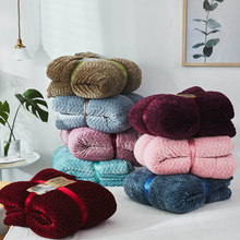 Plush Cashmere Throw Blanket Double Layer Thick Sherpa Throw Set