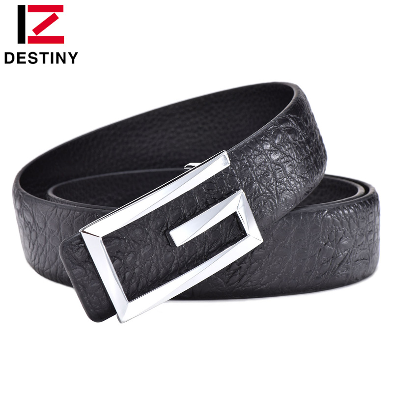 DESTINY Designer Belts Men Luxury Famous Brand Male Genuine Leather Strap Waist Gold Jeans Silver Wedding Belt G High Quality