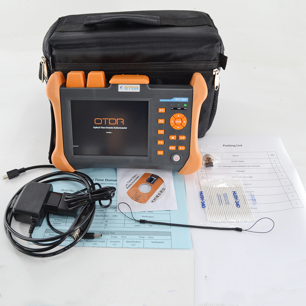 TMO-300-SM-A 1310/1550nm 32/30dB Costruito in VFL Touch Screen Optical Time Domain Reflectometer in Fibra Ottica OTDR 90KM