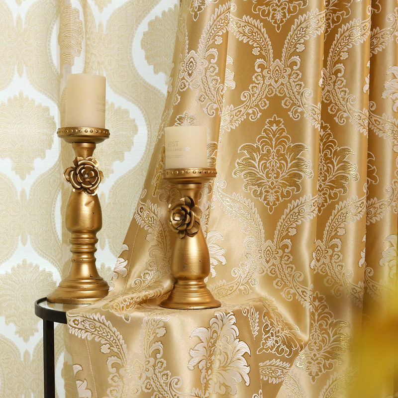 2017 European Gold Gold Jacquard Royal Deluxe Blue Curtain Bedroom Curtain  Living Room Elegant Curtain In Curtains From Home U0026 Garden On  Aliexpress.com ...