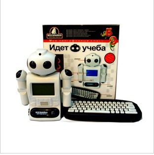 Free shipping Hotsale Russian language children learning machine ,Robot modelling,best gift for kids