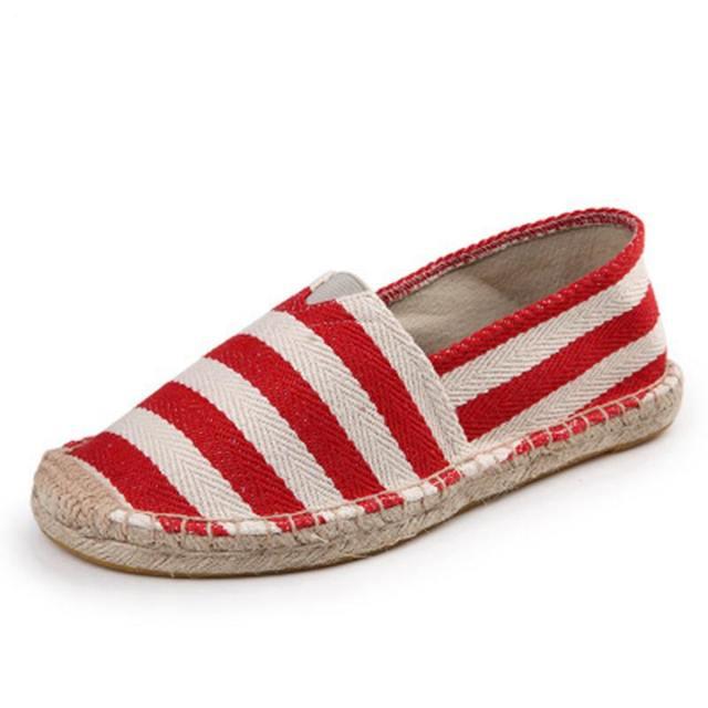 ASILETO 2018 Vintage women flats shoes woman Ladies Womens Casual Espadrilles Shoes for Female Unisex Larger Size 45 Breathable
