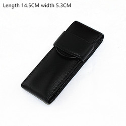 Oryginalna wysokiej jakości skóra pióro wieczne/torba na 2 długopisy-czarny długopis uchwyt/etui