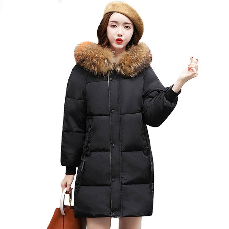 Fausse fourrure Parkas femmes doudoune veste d'hiver femmes épais neige porter hiver manteau dame vêtements femme vestes Parkas LJ0829