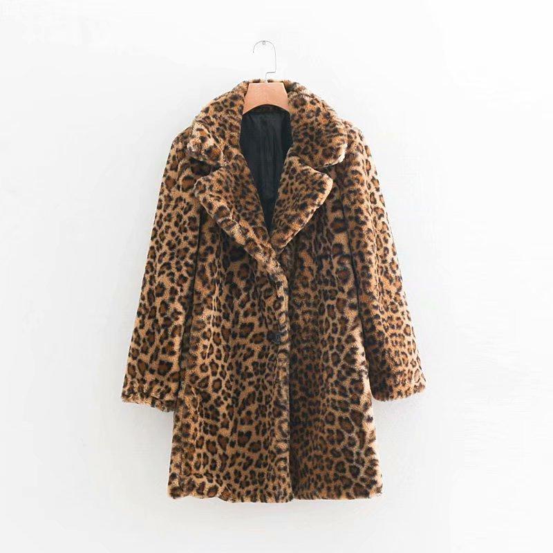 Fourrure Surdimensionné En Manteau Fausse High Vestes Manteaux Peluche Dames D'hiver Leopard Teddy Léopard Wt036 Street Femmes Et Laine Agneau FtwzqRzn