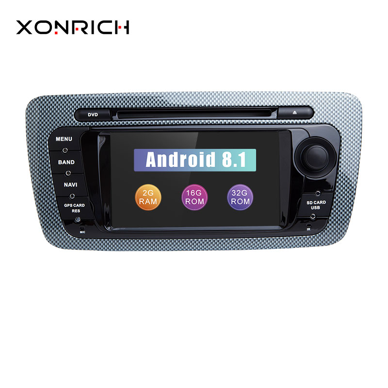 autoradio 2 din android 8 1 car multimedia for seat ibiza. Black Bedroom Furniture Sets. Home Design Ideas