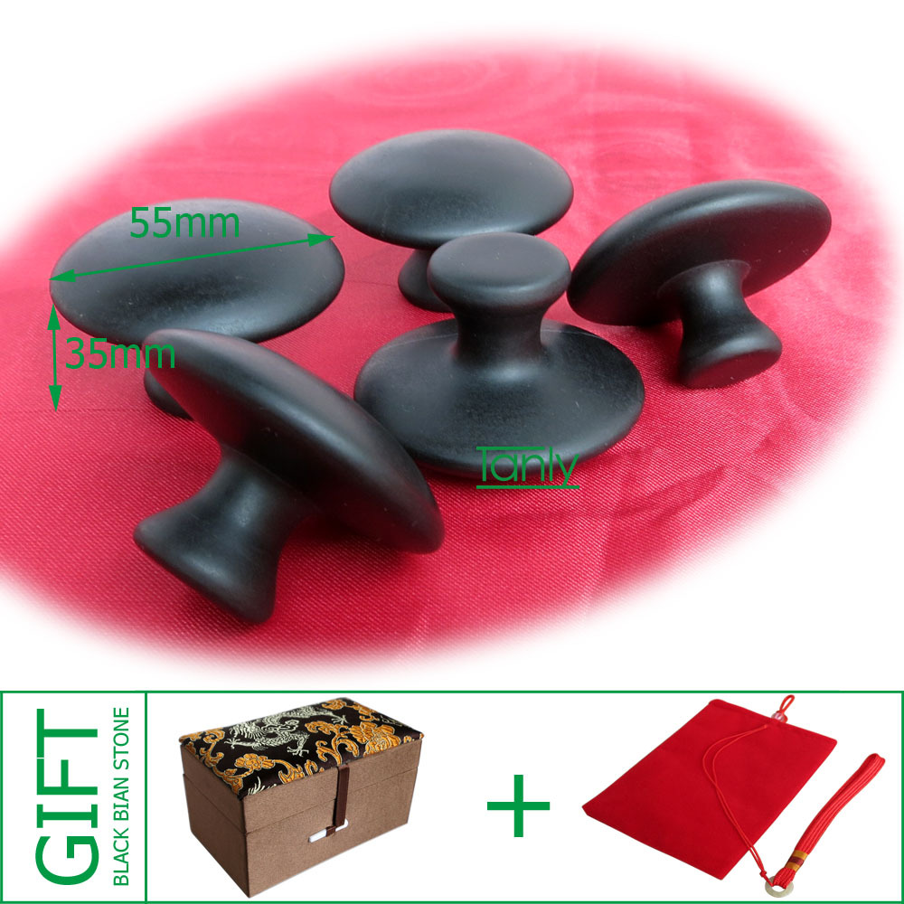 Hot!! Traditional Acupuncture Massage Tool Guasha Board natural bian stone mushroom massager 3pieces/lot hot very good quality wholesale traditional massage tool guasha board 100