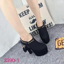 2016 New Black Women's Casual Suede Shoes Thick High Heel Zipper Lace Up Bootie Platform Heels Online 14cm