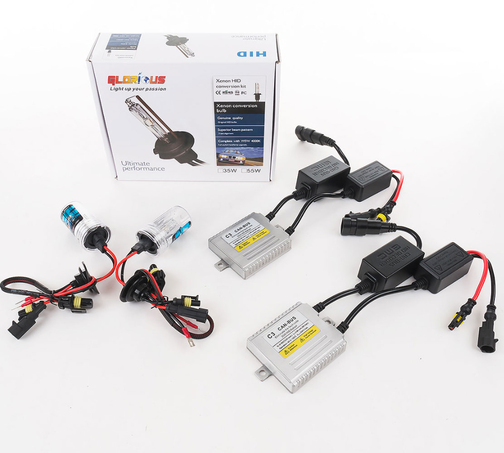 C3 Canbus H7 XENON HID KIT 35W skjult lampe H1 H3 H4 H7 H11 9005 9006 - Billygter - Foto 3