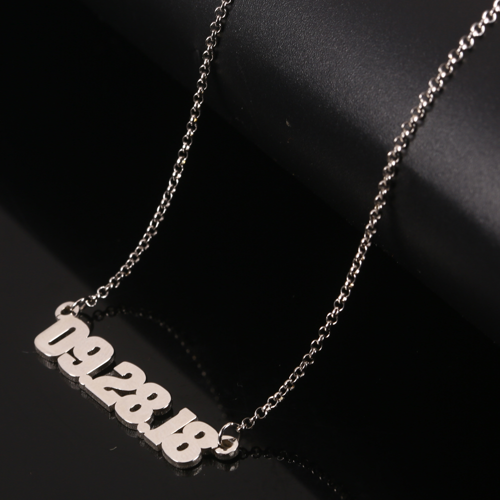 RainMarch 925 Silver Personalized Number Necklace Women Necklaces & Pendants Customiz Necklace Anniversary Jewelry Birthday Gift (2)