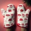 Бесплатная доставка  английский стиль  теплозащитные уплотненные перчатки из хлопка и пряжи  перчатки для микроволновой печи  Утепленные п...