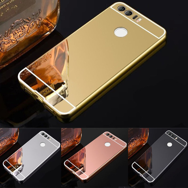 best loved 84d8c dd3a3 US $3.25 |Case For Huawei P10 5.1 case Luxury Rose Gold Aluminum Mirror  Back Cover Case For Huawei P10 Plus 5.5