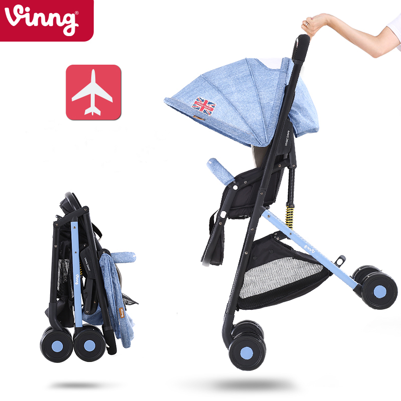 Vinng new baby stroller portable umbrella suspension can sit lie 0-36 month baby buggies folding carts