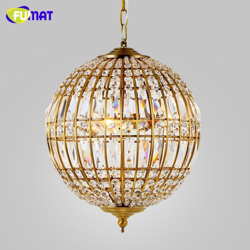 FUMAT American Style Chandelier Lights K9 Crystal Metal Lightings For Living Room Dining Room Artistic Art