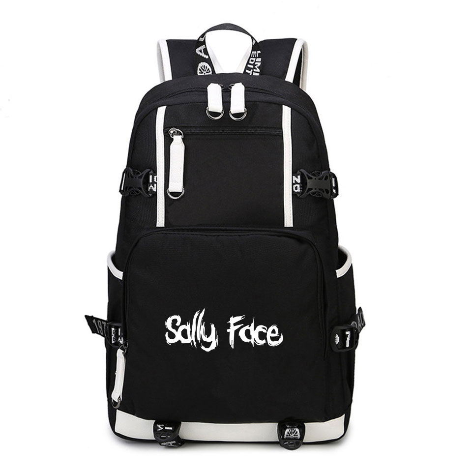 2019 Sally Face Hot Game Harajuku Backpack Loose strap adjustable High quality Hip Hop Printed Canvas teenagers Backpack2019 Sally Face Hot Game Harajuku Backpack Loose strap adjustable High quality Hip Hop Printed Canvas teenagers Backpack