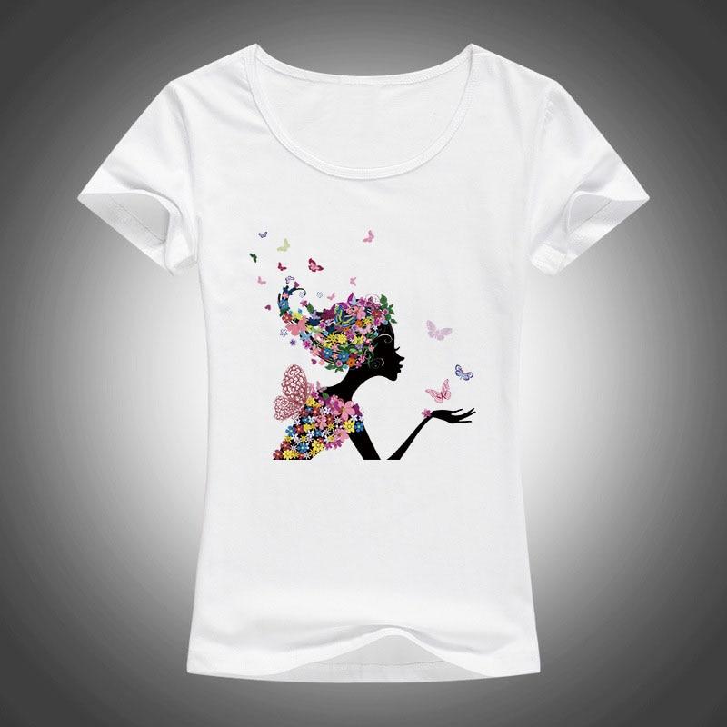 Футболка женская, с коротким рукавом и цветочным принтом F79 printed t shirt women fashion t shirt woment shirt women - AliExpress