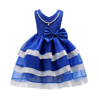 2017 New Fashion Princess Party Dress For Girls Kids Constumes Christmas Party Lace Bow Tutu Wedding