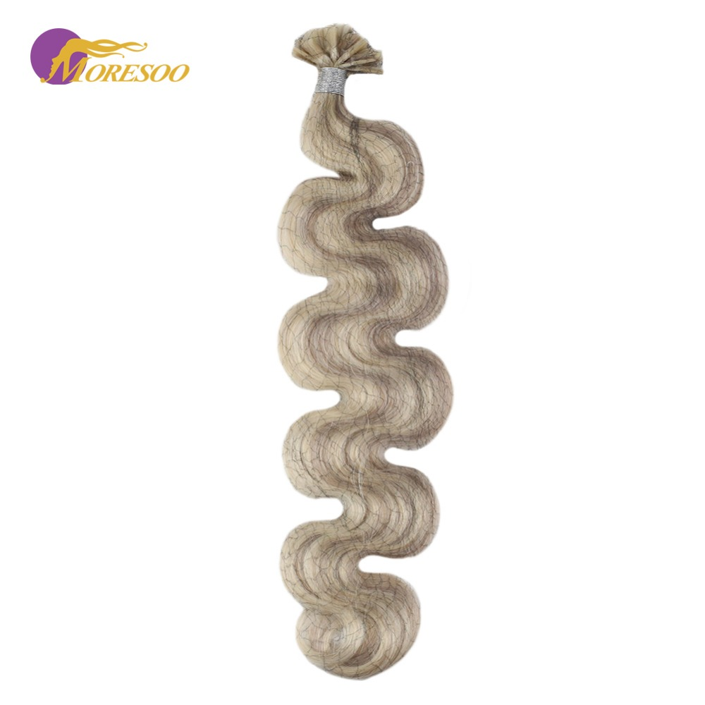 Moresoo Body Wave U Tip Hair Extensions Machine Remy Tipped Human Hair Fusion U-tip 1G/1S 50G 100% Real Human Hair
