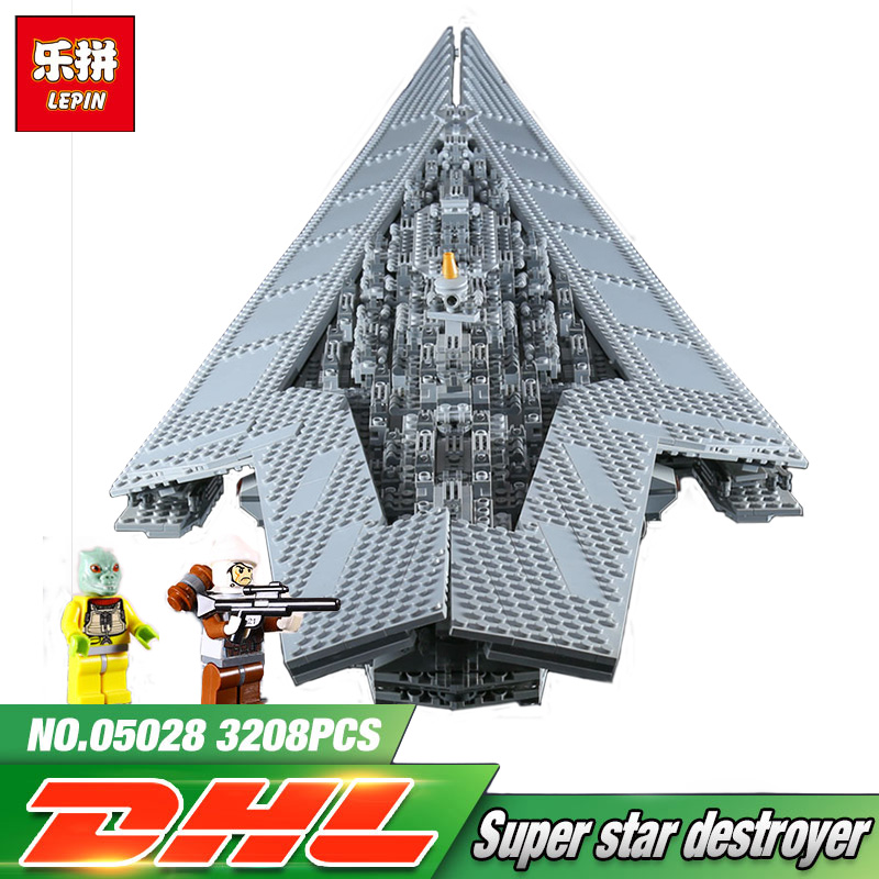 Lepin 05028 Star 3208Pcs Star Series Wars Execytor Super Star Destroyer Vader Buildings Blocks Action Brick LegoINGly 10221 05028 star wars execytor super star destroyer model building kit mini block brick toy gift compatible 75055 tos lepin