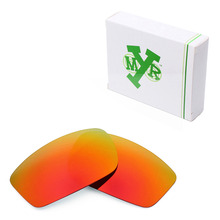 Mryok POLARIZED Replacement Lenses for Oakley Square Wire New 2006 Sunglasses Fire Red