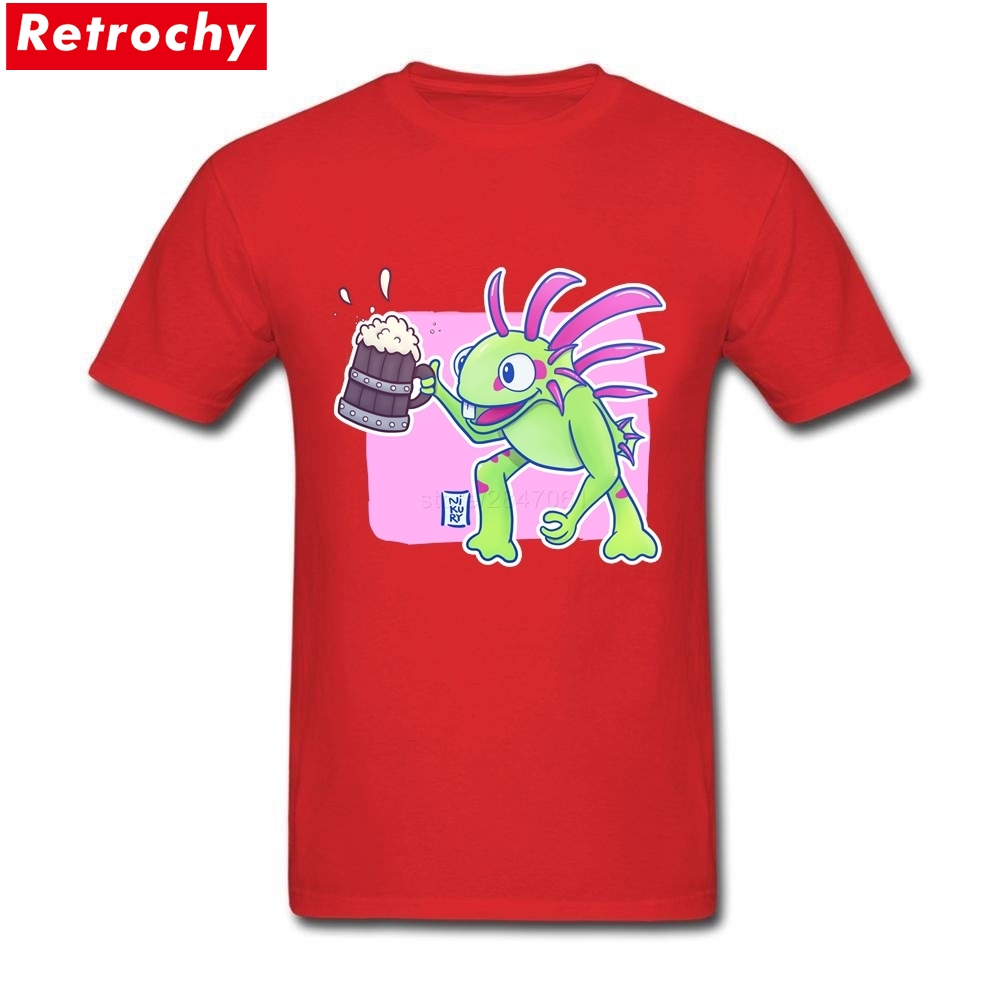 Murloc Beer Merchandise T Shirts Short Sleeved Mens Organic Cotton Plus Size Tees