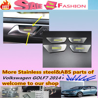 For Volkswagen VW Golf7 Golf 7 2014 Styling Cover Trims Stainless Steel Car Door Inner Built Handle Bowl Frame Lamp Sticks 4pcs