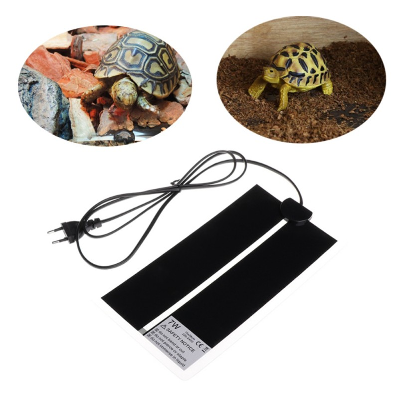 1pc Heat Mat Reptile Brooder Incubator Heat Mat Pet Heating Pad Brew Reptiles & Amphibians Supplies Eu Plug 5w 7w 14w 20w 28w