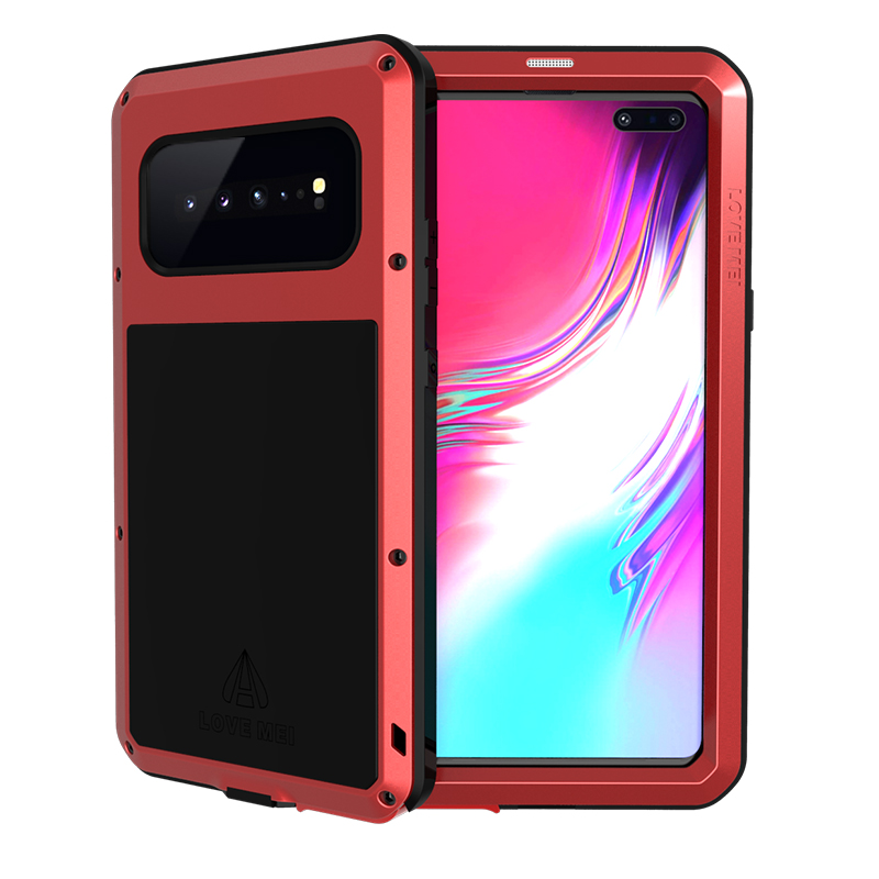 For Samsung Galaxy S10 5G Case Shock Dirt Proof Water Resistant Metal Armor Cover Phone Case for Samsung S10 5G Waterproof Case