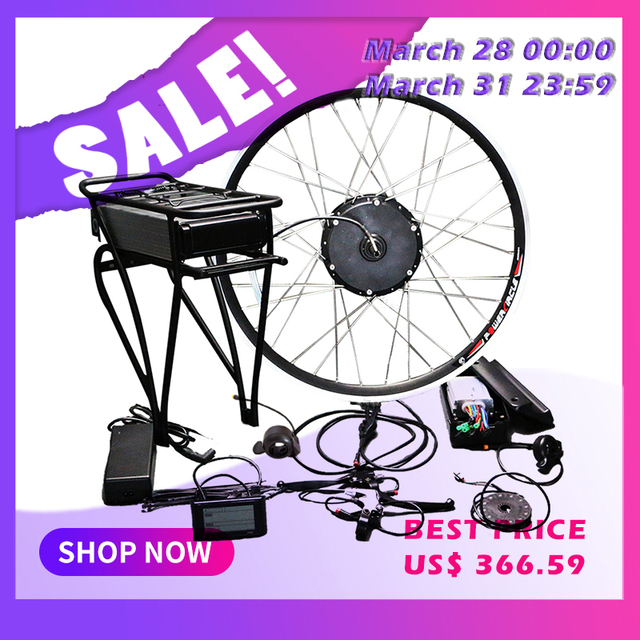 48V 500W Electric Bike Conversion Kit with Battery 48V 12AH Hub Motor Wheel s900 LCD Ebike 700C 26 E bike Conversion Kit