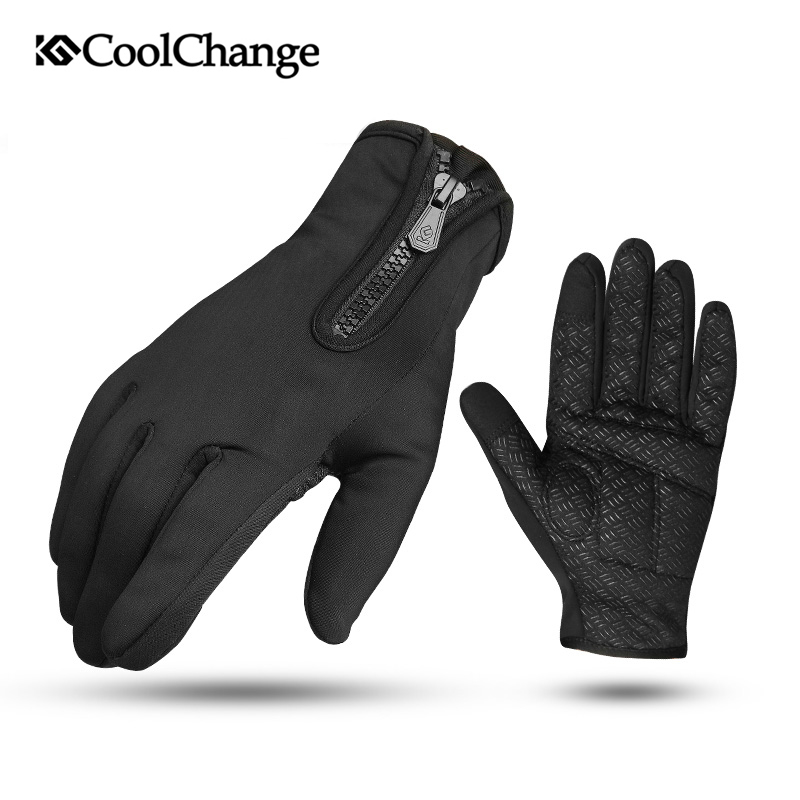 CoolChange Cycling Gloves Full Finger Thermal Windproof Bicycle Sports Touch Screen Gloves Bike Motorcycle Skiing Hiking Gloves ...