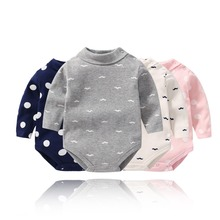 Baby Bodysuit Spring Summer New Style Soft Cartoon Printing Climbing Clothes For 3-36m Children