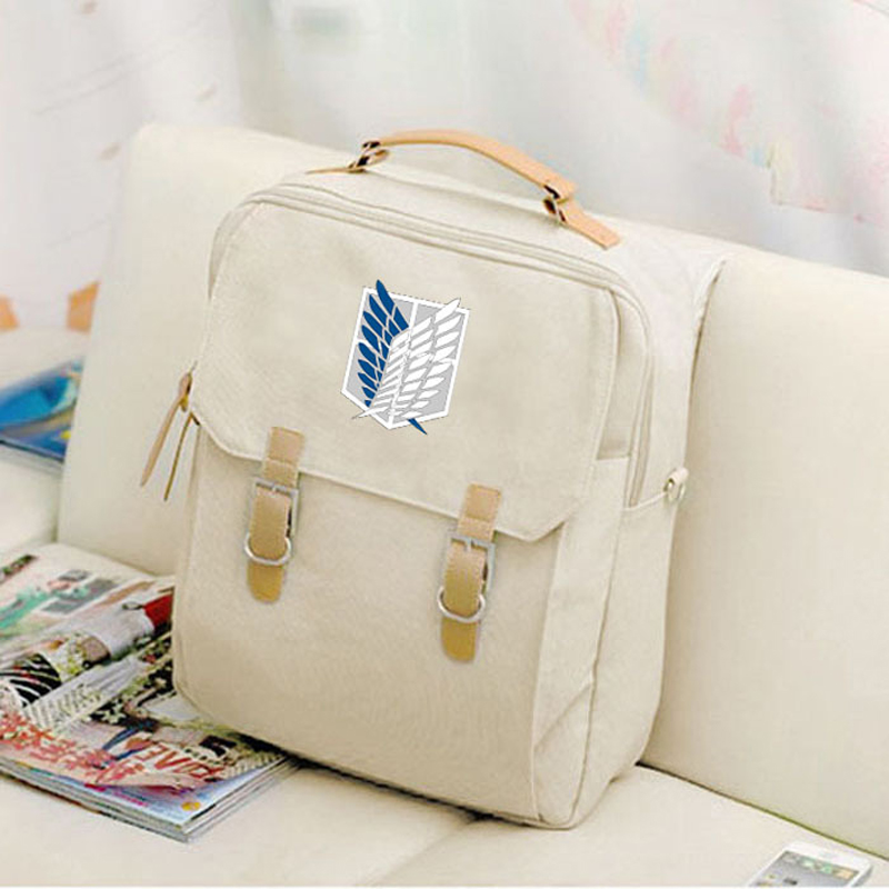 2017 Canvas Preppy Style Backpack Hot Anime Attack On Titan Women Mochila Backpacks Student School Bags for Teenagers Girls