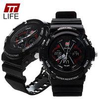 TTLIFE נשים גברים תאריך ספורט LED הדיגיטלי שעונים כרונו מעורר צלילה עמיד למים 30 m גברת Feminino Masculino Relogio שעון צבא TS01