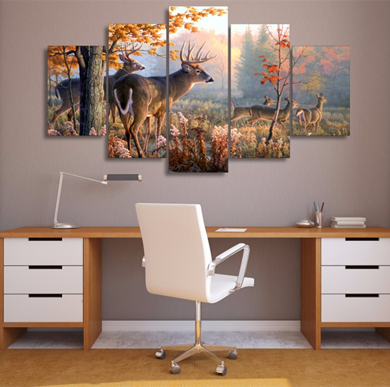 5-Pieces-Canvas-Art-Wall-Painting-Decorative-Animal-Deer-Modular-Picture-For-Living-Room-Home-Decor (2)