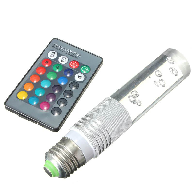 Excellent Quality E27 3W RGB LED 16 Color Changing Crystal Light Bulb Lamp With IR Remote Control 110V 220V 16 color remote controlled led light bulb with multiple effects e 27 socket