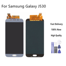 LCD Replacement For Samsung Galaxy J5 2017 J530 J530F LCD Touch Screen Digitizer Assembly With Brightness Control Display+Tools oem lcd display touch screen digitizer assembly for samsung galaxy j5 j5008 17pin white black gold with tempered glass tools