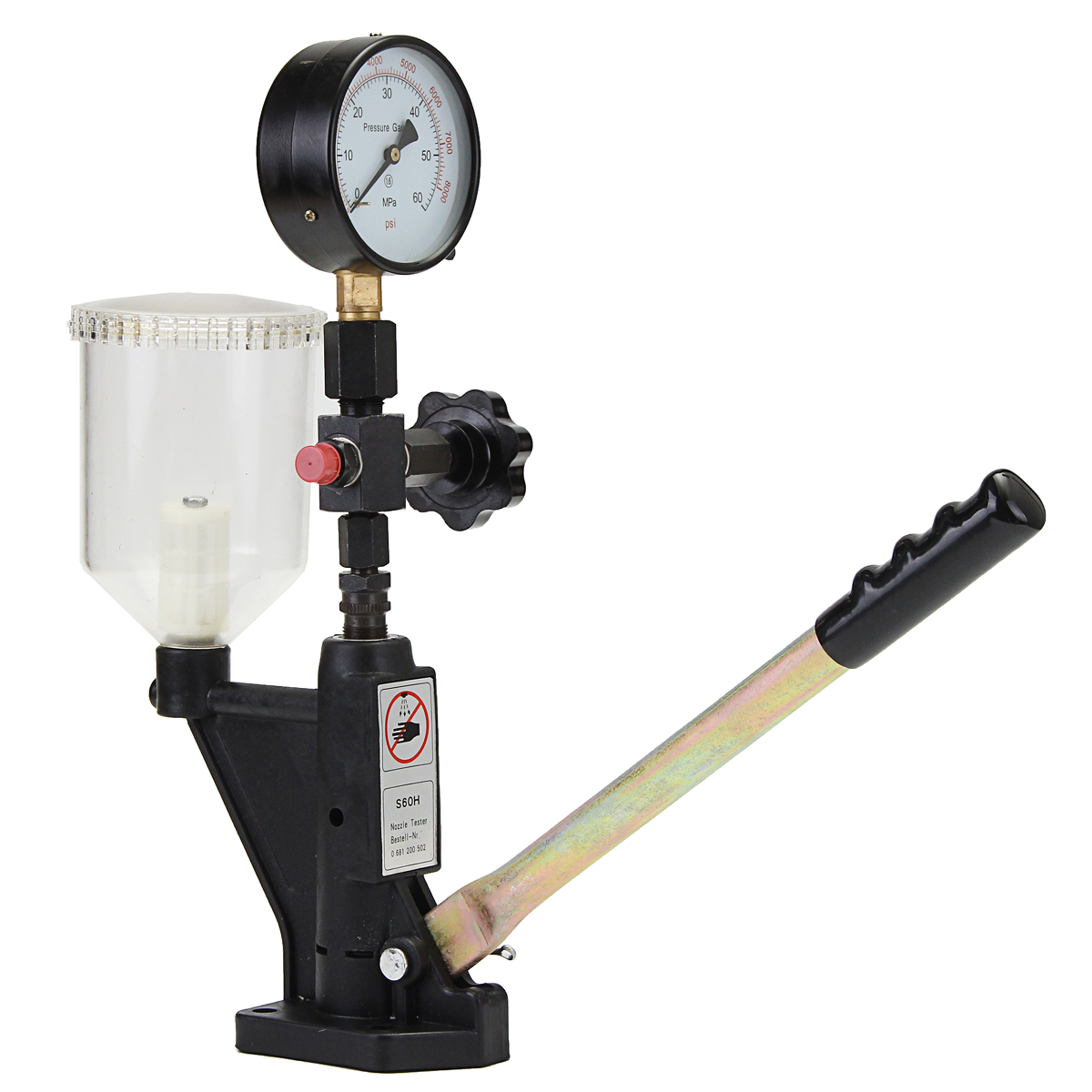 Max 60 Mpa Nozzle Pop Pressure Tester 0-400 BAR Common Rail Tool Fuel  Injector Calibrator Dual Scale Gauge Diagnostic Metal