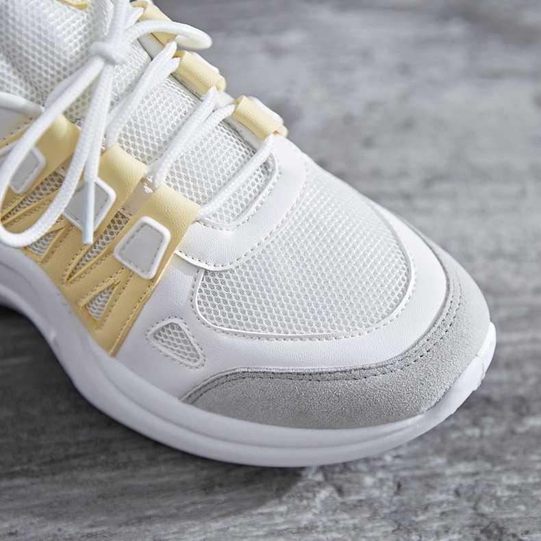 Sneakers Mulheres Verão Vulcanizar Cesta Femme Tênis de Moda Feminina Rendas Macio Pai Plataforma Malha Respirável Sneakers para As Mulheres