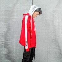 2018 New Bf Oversize Hoodie Streetwear Hip Hop Red Black Double Hooded Hoody Mens Hoodies And Sweatshirts High Street L160