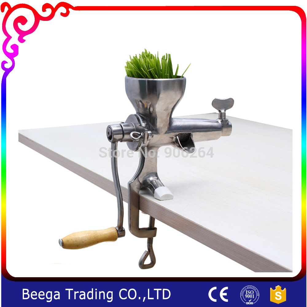Free Shipping Wheatgrass Juicer Handy Hand Crank Wheat Grass Juicer , Tin Plating Manual Ideal for Fruit , Vegetables ,Orange free shipping good quality wheatgrass juicer fruit juicer
