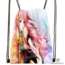 Custom Cute-Girl-Christmas- Drawstring Backpack Bag Cute Daypack Kids Satchel (Black Back) 31x40cm#2018612-01-1