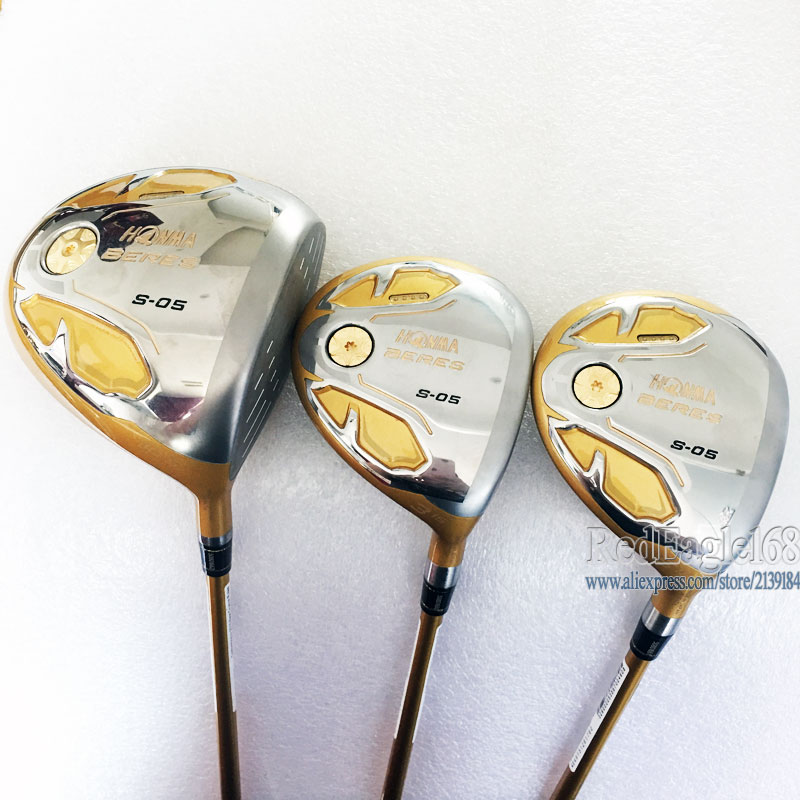 Cooyute New Mens Golf Clubs HONMA S-05 4 Star Golf Wood  Set Golf Driver With Fairway Woods Graphite Shaft Free Shipping
