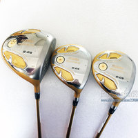 Cooyute New mens Golf clubs HONMA S 05 4 star Golf wood set Golf driver with Fairway Woods Graphite shaft Free shipping