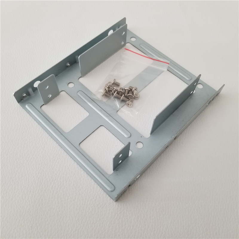"""100PCS 2.5/"""" SSD HDD Hard Drive to 3.5/"""" Steel Caddy Tray Mounting Bracket"""