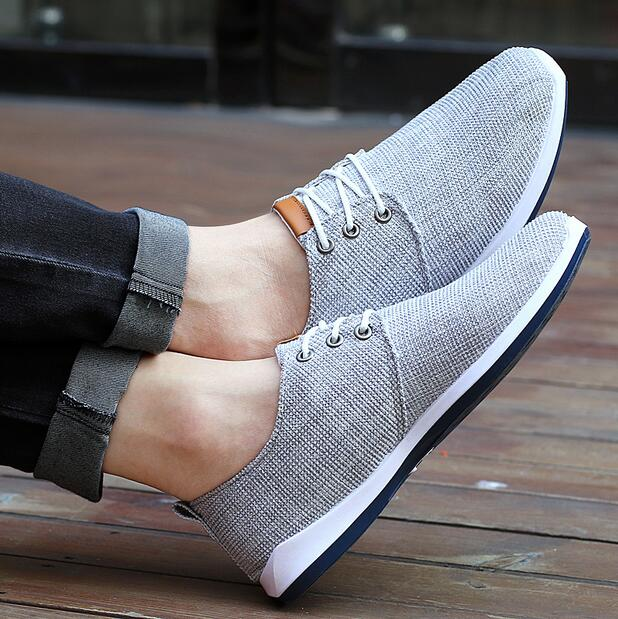 1d8c99267da 2016 new Spring summer men canvas shoes trend lace up Casual shoes Fashion  breathable men shoes -in Men s Casual Shoes from Shoes on Aliexpress.com ...
