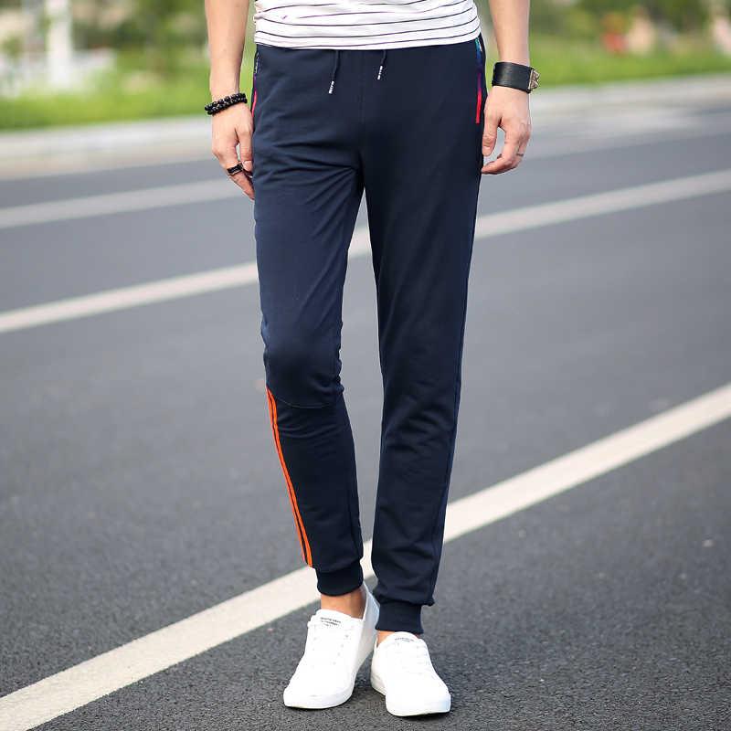 Pantalones informales para hombre 5XL, pantalones de chándal de algodón, pantalones a rayas para correr, pantalones holgados chándal para culturismo, pantalones elásticos
