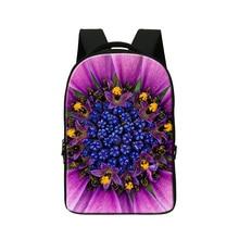 Folwer печати Ноутбук рюкзак для женщин мешок школы для девочек, рюкзак шаблон для студентов колледжа, день молодежи пакет, девчушки bookbag