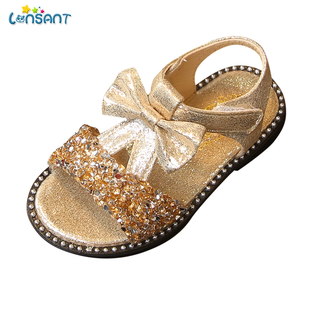 LONSANT Girl Sandals Summer Fashion Kids Baby Girls Bling Sequins Bowknot Princess Single Sandals For Little Big Girls ShoesLONSANT Girl Sandals Summer Fashion Kids Baby Girls Bling Sequins Bowknot Princess Single Sandals For Little Big Girls Shoes