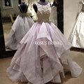 Vestido De Casamento Vestidos de Novia Importados de China Encaje Puffy Una Línea Púrpura Vestidos de Boda Real Fotos Vestidos de Novia Baratos 2016