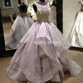 Vestido De Casamento Wedding Gowns Imported-China Lace Puffy A Line Purple Wedding Dresses Real Photos Cheap Bridal Dresses 2016